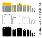 vector big set of battery icons....   Shutterstock .eps vector #1125609164