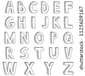 vector set of black sketch... | Shutterstock .eps vector #1125609167