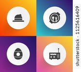 modern  simple vector icon set... | Shutterstock .eps vector #1125616409