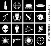 alien,astronaut,astronomy,atom,balloon,black,clock,exploration,explosion,group,gun,icons,illustration,industry,molecule