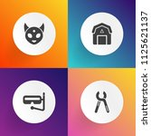 modern  simple vector icon set... | Shutterstock .eps vector #1125621137