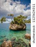 punta rata beach in brela ...   Shutterstock . vector #1125624311