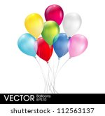 multicolored balloons | Shutterstock .eps vector #112563137