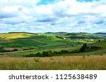 a beautiful rural landscape in...   Shutterstock . vector #1125638489