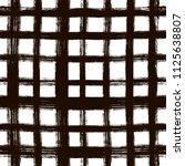 grunge hand drawn paint brush.... | Shutterstock .eps vector #1125638807