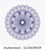 blue rosette. linear... | Shutterstock .eps vector #1125639059