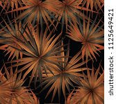 palm monstera seamless pattern. ... | Shutterstock .eps vector #1125649421