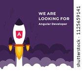 we are hiring vector concept... | Shutterstock .eps vector #1125659141