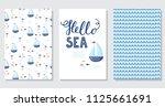 vector doodle sea illustration. ... | Shutterstock .eps vector #1125661691