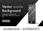 vector phone background | Shutterstock .eps vector #1125665471