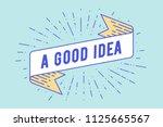 good idea. vintage ribbon...   Shutterstock .eps vector #1125665567