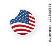 usa flag icon sticker   Shutterstock .eps vector #1125665591