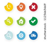 set of web icons colored...   Shutterstock .eps vector #1125665669
