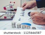 business woman investment... | Shutterstock . vector #1125666587