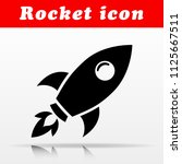 illustration of black rocket... | Shutterstock .eps vector #1125667511