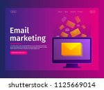e mail notification concept.... | Shutterstock .eps vector #1125669014