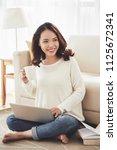 vietnamese female student... | Shutterstock . vector #1125672341