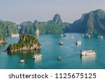 beautiful halong bay landscape... | Shutterstock . vector #1125675125