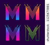 letter m colorful logotype... | Shutterstock .eps vector #1125675881