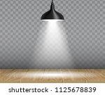 hanging ceiling lamp over... | Shutterstock .eps vector #1125678839