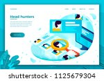 vector concept illustration  ... | Shutterstock .eps vector #1125679304