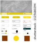light yellow vector web ui kit...