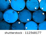 oil barrels or chemical drums... | Shutterstock . vector #112568177