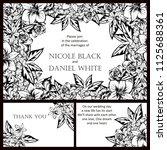 vintage delicate invitation... | Shutterstock .eps vector #1125688361