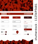 dark red vector wireframe kit...