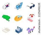 suburban residence icons set....   Shutterstock . vector #1125698135