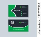 modern business card template... | Shutterstock .eps vector #1125707135