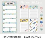 stickers for organized your... | Shutterstock .eps vector #1125707429