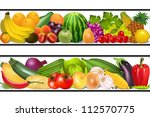 illustration set food... | Shutterstock . vector #112570775