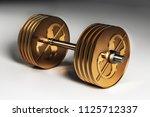 3d image of gold metal dollar... | Shutterstock . vector #1125712337