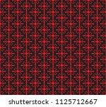 seamless pattern stars flowers... | Shutterstock .eps vector #1125712667