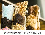 close up of ice cream cones on... | Shutterstock . vector #1125716771