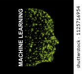 machine learning. artificial...   Shutterstock .eps vector #1125716954