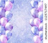 balloons frame. vector sparkle... | Shutterstock .eps vector #1125717497