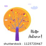 autumn tree and sky background... | Shutterstock .eps vector #1125720467