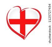 love england emblem with heart... | Shutterstock .eps vector #1125727454