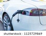 electricity charging of...   Shutterstock . vector #1125729869
