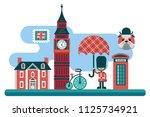 london cityline vector...   Shutterstock .eps vector #1125734921
