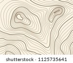 topographic map background of... | Shutterstock .eps vector #1125735641
