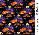 happy halloween illustration... | Shutterstock .eps vector #1125740624