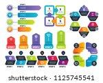 process infographics. business... | Shutterstock .eps vector #1125745541