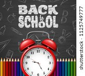 back to school background with... | Shutterstock .eps vector #1125749777