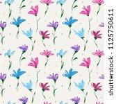 abstract flower seamless... | Shutterstock .eps vector #1125750611