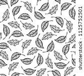 black doodles ash and oak... | Shutterstock .eps vector #1125752501