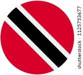 circular flag of tobago | Shutterstock .eps vector #1125753677