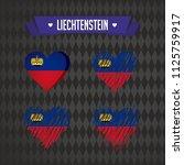 liechtenstein heart with flag... | Shutterstock .eps vector #1125759917
